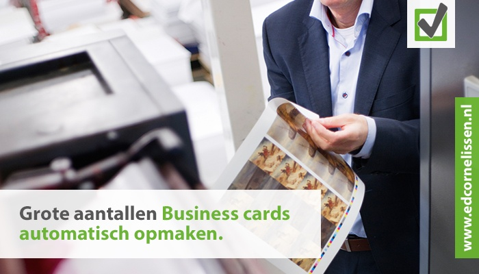 Businesscards productie voor corporate bedrijven