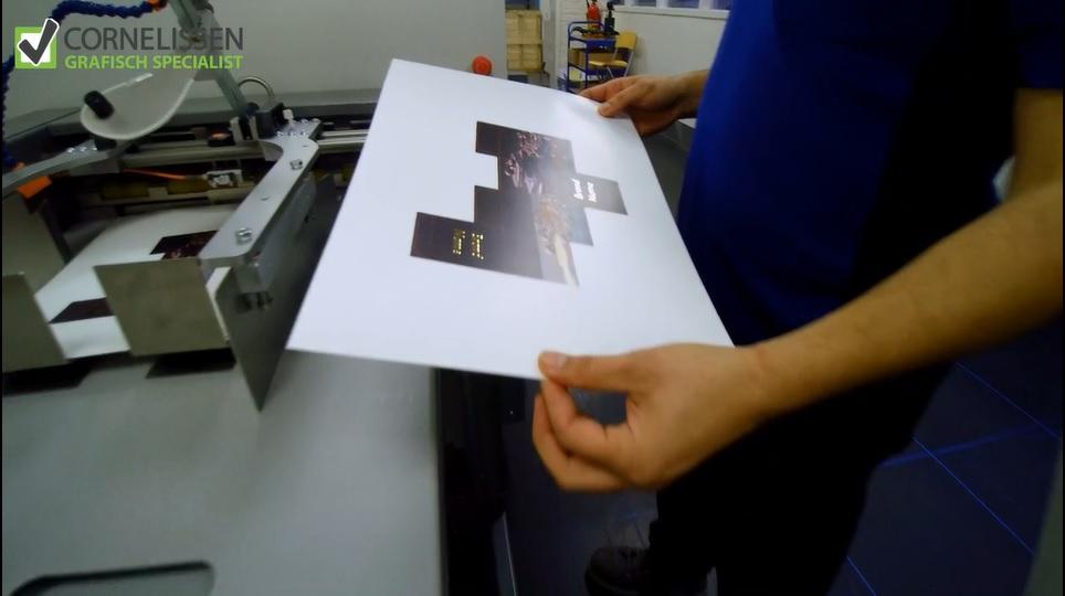 drukwerk sample met goudfolie